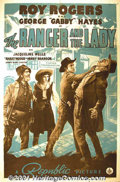 "Movie Posters:Western, The Ranger and the Lady (Republic, 1940) One-Sheet (27"" X 41""). RoyRogers became one of Republic's top moneymakers by the l..."