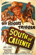 "Movie Posters:Western, South of Caliente (Republic, 1951) One-Sheet (27"" X 41""). Known as""King of the Cowboys"", Roy Rogers exuded a quiet, gentle..."
