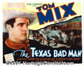 "Movie Posters:Western, The Texas Badman (Universal, 1932) Title Lobby Card (11"" X 14"").The nine westerns that Tom Mix made for Universal Studios b..."