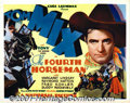 "Movie Posters:Western, The Fourth Horseman (Universal, 1932) Title Lobby Card (11"" X 14"").This film is another entry in the Tom Mix/Universal seri..."