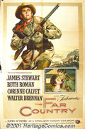 "Movie Posters:Western, The Far Country (Universal, 1955) One-Sheet (27"" X 41""). JamesStewart collaborated with legendary director Anthony Mann in..."