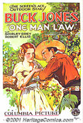 """Movie Posters:Western, One Man Law (Columbia, 1932) One-Sheet (27"""" X 41""""). Buck Jones wasa cowboy star of the first magnitude when this poster was..."""