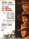 "Movie Posters:Western, The Good, The Bad, and The Ugly (United Artists, 1968) FrenchPetite (23"" X 30""). Sergio Leone's trilogy of spaghetti wester..."