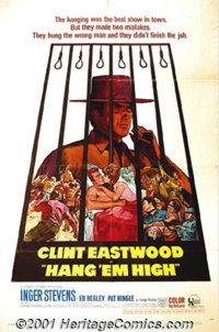 """Hang 'em High (United Artists, 1968) One-Sheet (27"""" X 41""""). After the amazing success of Leone's western trilo..."""