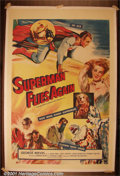 "Movie Posters:Adventure, Superman Flies Again (20th-Century Fox, 1954) One-Sheet (27"" X 41""). 20th-Century Fox purchased fifteen episodes of the tel..."