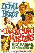"Movie Posters:Comedy, Dancing Masters (20th-Century Fox, 1943) One-Sheet (27"" X 41""). Laurel and Hardy are considered one of the greatest comedy t..."