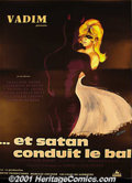 """Movie Posters:Drama, Satan Leads the Dance (Et Satan Conduit Le Bal)(Concinor, 1962) French Affiche (47"""" X 63""""). This charming poster is from one..."""