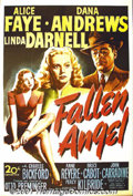 "Movie Posters:Comedy, Fallen Angel (20th-Century Fox) One-Sheet (27"" X 41""). OttoPreminger directed this film-noir classic about Dana Andrews fal..."