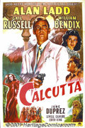 """Movie Posters:Crime, Calcutta (Paramount, 1946) One-Sheet (27"""" X 41""""). In this classic film-noir, a pilot who flies cargo to Calcutta investigate..."""