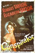 """Movie Posters:Adventure, Conspirator (Loew's, 1949) One-Sheet (27"""" X 41""""). This early ColdWar spy thriller stars Elizabeth Taylor, who discovers tha..."""