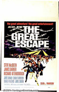 "Movie Posters:Adventure, The Great Escape (United Artists, 1963) Window Card (14"" X 22"").For sheer spectacle, this WWII film has it all: plot, actio..."