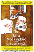 "Movie Posters:Drama, To Kill a Mockingbird (Universal, 1963) One-Sheet (27"" X 41""). This moving film, taken from Harper Lee's story of two childr..."