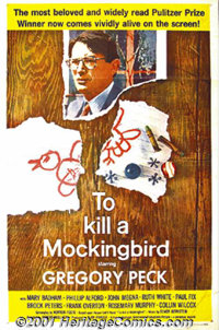 "To Kill a Mockingbird (Universal, 1963) One-Sheet (27"" X 41""). This moving film, taken from Harper Lee's story..."