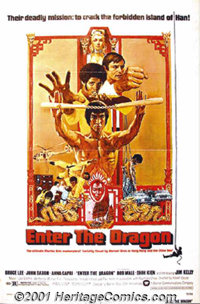"""Enter the Dragon (Warner Brothers, 1973) One-Sheet (27"""" X 41""""). Though Bruce Lee had garnered national attenti..."""
