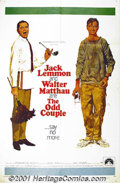 "Movie Posters:Comedy, The Odd Couple (Paramount, 1968) One-Sheet (27"" X 41""). The filmversion of Neil Simon's stage hit about two men living toge..."