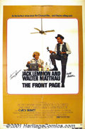 """Movie Posters:Comedy, The Front Page (Universal, 1975) One-Sheet (27"""" X 41""""). Billy Wilder directs Jack Lemmon and Walter Matthau in his version o..."""