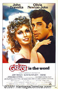 "Grease (Paramount, 1978) 2 One-Sheets (27"" X 41"") Style A and The Advance. Music, costumes, dancing and John T..."