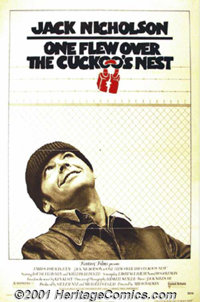"One Flew Over the Cuckoo's Nest (United Artists, 1975) One-Sheet (27"" X 41""). Ken Kesey's story is masterfully..."