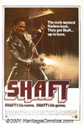 "Movie Posters:Action, Shaft (MGM, 1971) One-Sheet (27"" X 41""). The classic of blaxploitation! The story of Detective John Shaft and his battle wi..."