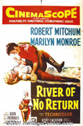 """Movie Posters:Adventure, River of No Return (20th-Century Fox, 1954) One-Sheet (27"""" X 41"""").The torrid pairing of Marilyn Monroe and Robert Mitchum m..."""