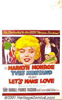 """Let's Make Love (20th-Century Fox, 1960) Window Card (14"""" X 22""""). Billionaire Yves Montand finds out that an O..."""