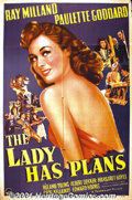 "Movie Posters:Comedy, The Lady Has Plans (Paramount, 1942) One-Sheet (27"" X 41"").Paulette Goddard plays an overseas reporter who is mistakenly pi..."