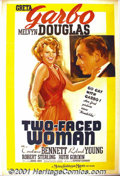 "Movie Posters:Comedy, Two-Faced Woman (MGM, 1941) One-Sheet (27"" X 41"") Style D. This wasthe divine Greta Garbo's last film appearance. It's a ch..."
