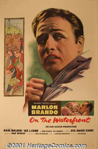 """On The Waterfront (Columbia, 1954) One-Sheet (27"""" X 41""""). One of the most important films of the 1950's had Br..."""