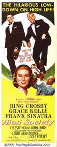 "Movie Posters:Musical, High Society (MGM, 1956) Insert (14"" X 36""). Just before Grace Kelly departed the screen to become a Princess, she starred i..."
