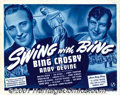 "Movie Posters:Comedy, Swing With Bing (Universal, 1940) Title Lobby Card (11"" X 14""). Extremely rare title card for a Universal short subject made..."