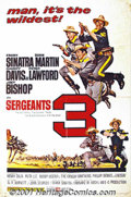 "Movie Posters:Adventure, Sergeant's Three (United Artists, 1962) One-Sheet (27"" X 41""). Thisamusing romp has the Rat Pack out West reworking the plo..."