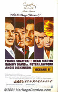 """Movie Posters:Drama, Ocean's 11 (Warner Brothers, 1960) One-Sheet (27"""" X 41""""). With an HBO movie and tons of nostalgic publicity, the Rat Pack's..."""