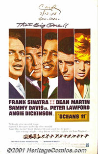 "Ocean's 11 (Warner Brothers, 1960) One-Sheet (27"" X 41""). With an HBO movie and tons of nostalgic publicity, t..."