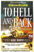 "Movie Posters:Adventure, To Hell and Back (Universal, 1955) One-Sheet (27"" X 41""). America's most decorated war hero, Audie Murphy, recreates his own..."