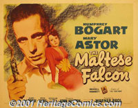 "The Maltese Falcon (Warner Brothers, 1941) Display/Half Sheet (22"" X 28"") Style A. John Huston made his direct..."