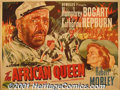 "Movie Posters:Drama, The African Queen (United Artists, 1952) British Quad (30"" X 40""). John Huston led his cast and crew on an amazing adventure..."