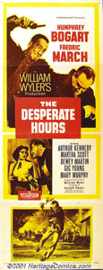 "Movie Posters:Drama, The Desperate Hours (Paramount, 1955) Insert (14"" X 36""). Wiliiam Wyler's classic tale based on the true story of a family h..."