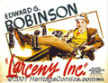 "Movie Posters:Crime, Larceny Inc. (Warner Brothers, 1942) Display/Half Sheet (22"" X 28"") Style B. This hilarious little gem of a comedy casts Edw..."