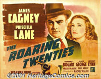 "The Roaring Twenties (Warner Brothers, 1939) Display/Half Sheet (27"" X 41""). Humphrey Bogart and James Cagney..."