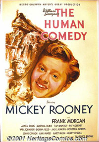 """The Human Comedy (MGM, 1943) One-Sheet (27"""" X 41""""). This Oscar-winner, adapted from William Saroyan's story, i..."""