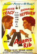 "Movie Posters:Comedy, Adam's Rib (MGM, 1949) One-Sheet (27"" X 41""). Tracy and Hepburnteam up for a classic battle of the sexes! George Cukor dire..."