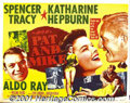 "Movie Posters:Comedy, Pat And Mike (MGM, 1952) Display/Half Sheet (22"" X 28""). GeorgeCukor directed Spencer Tracy and Katherine Hepburn in this c..."