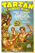 "Movie Posters:Adventure, Tarzan the Ape Man (MGM, 1932) Spanish One Sheet (27"" X 41"").Lovely stone litho from the first Johnny Weismuller Tarzan fea..."