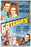 """Movie Posters:Adventure, Gateway (20th-Century Fox, 1938) One-Sheet (27"""" X 41"""").Autographed. Originally titled """"Ellis Island"""", Fox was unable toge..."""