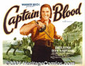 "Movie Posters:Adventure, Captain Blood (Warner Brothers, 1935) Display/Half Sheet (22"" X28""). When Warner Brothers was looking for a new leading ma..."