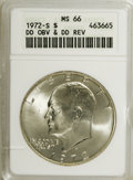 Eisenhower Dollars, 1972-S $1 Double Die Obverse and Double Die Reverse Silver MS66 ANACS. NGC Census: (742/1022). PCGS Population (2836/5821)....