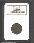 1834 1/2 C XF45 NGC. B-1. Medium brown color with nice definition and a few small marks as one might expect of the grade...
