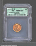 1909-S 1C S Over Horizontal S MS66 Red ICG. Sharply struck, the mint luster is smooth and undisturbed by post-striking d...