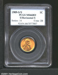 1909-S 1C S Over Horizontal S MS66 Red PCGS. Cents from the San Francisco Mint that were struck in 1909 come with a vari...