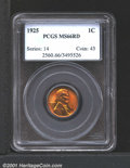 1925 1C MS66 Red PCGS. Sharply struck with fiery orange-red mint luster....(PCGS# 2560)
